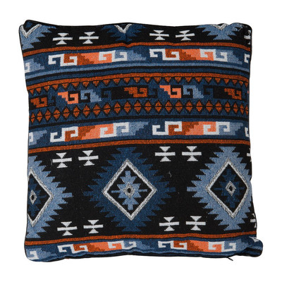 Kussen indian style - blauw - 45x45 cm