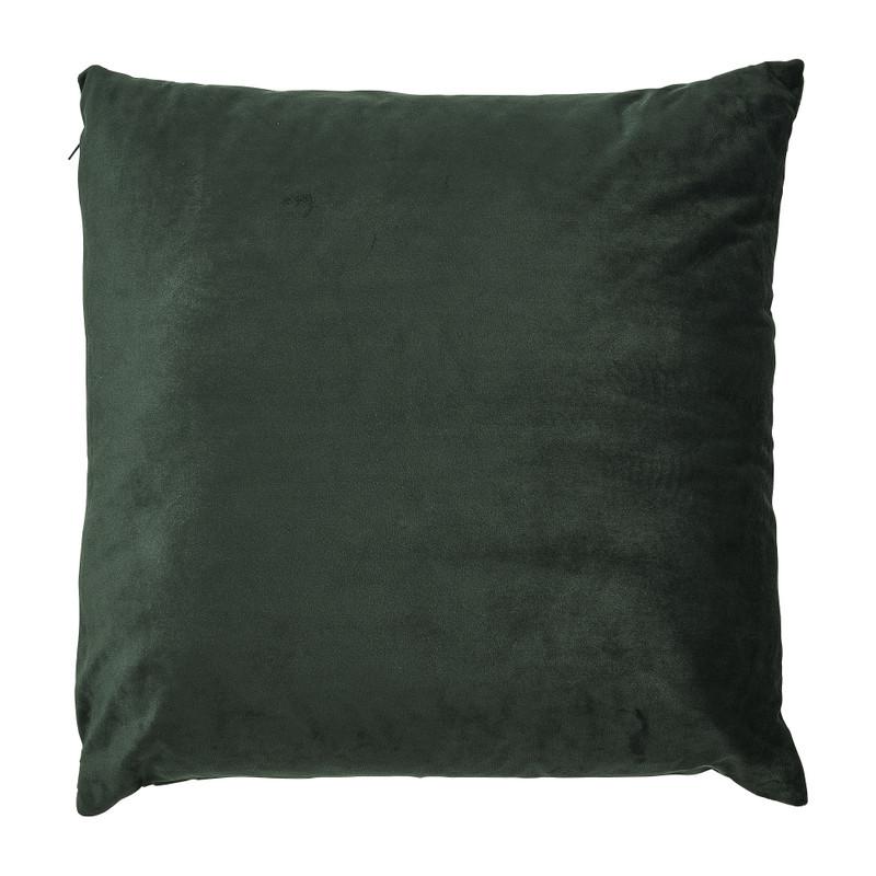 Kussen reliëf blad - groen - 45x45 cm