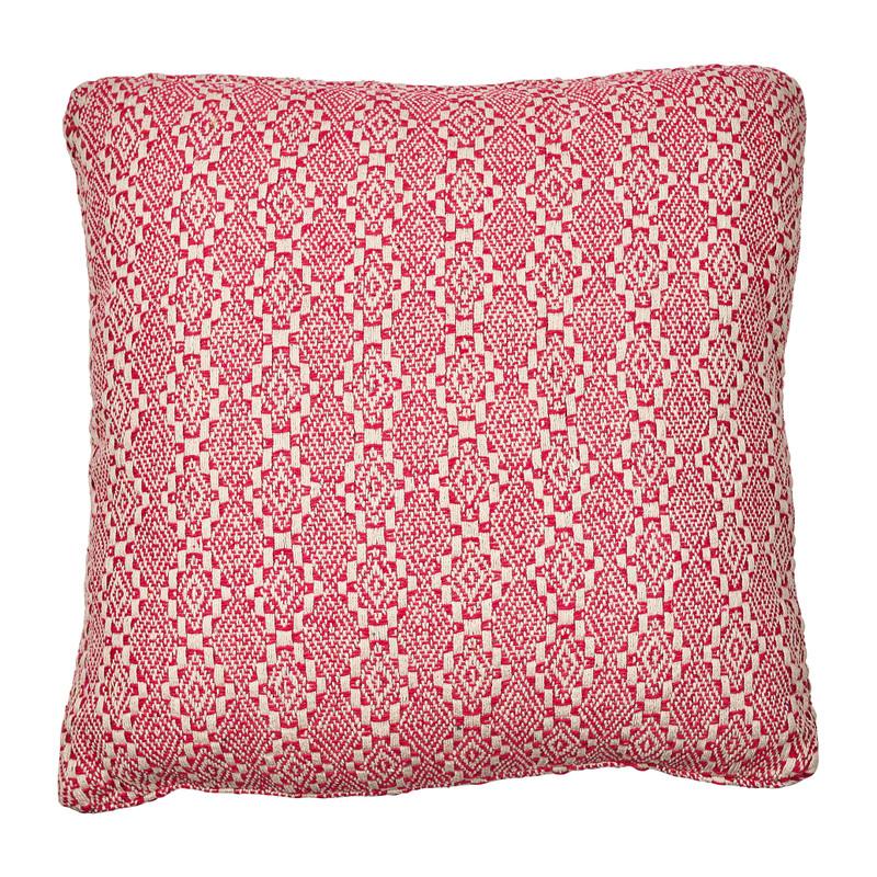 Kussen roze/wit - ruitjes - 45x45 cm