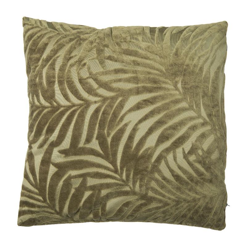 Kussen blad reli�f - groen - 45x45 cm