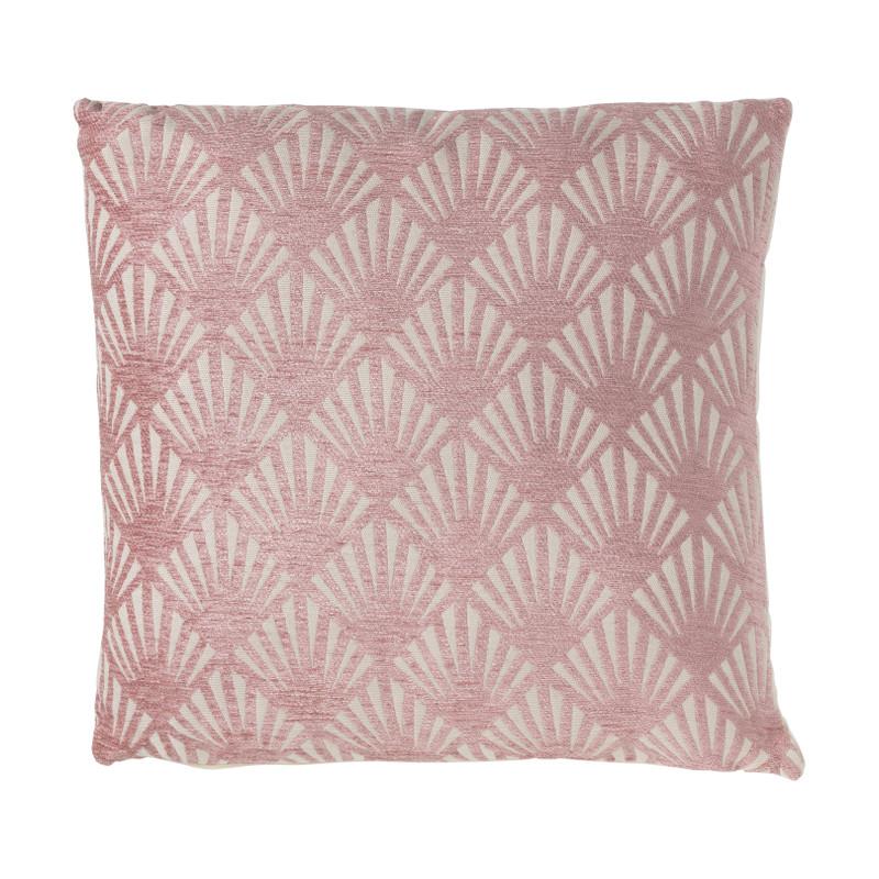 Kussen chenille - roze - 45x45 cm
