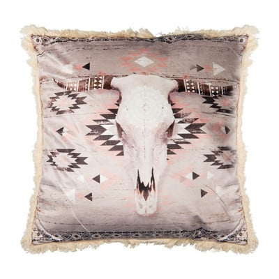 Kussen stier - roze