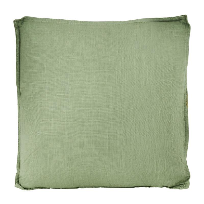 Linnen kussen - groen - 60x60 cm