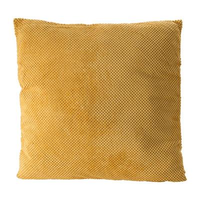 Kussen blokje - geel - 60x60 cm
