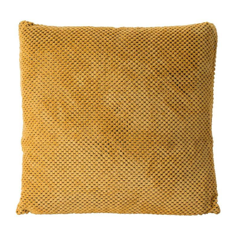 Kussen blokje - geel - 45x45 cm
