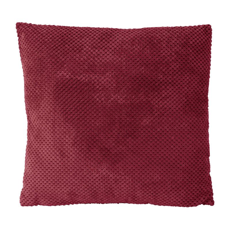 Kussen blokje - rood - 45x45 cm