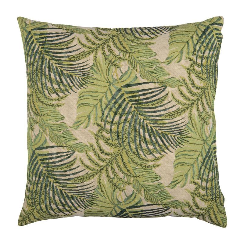 Kussen blad design - groen - 45x45 cm