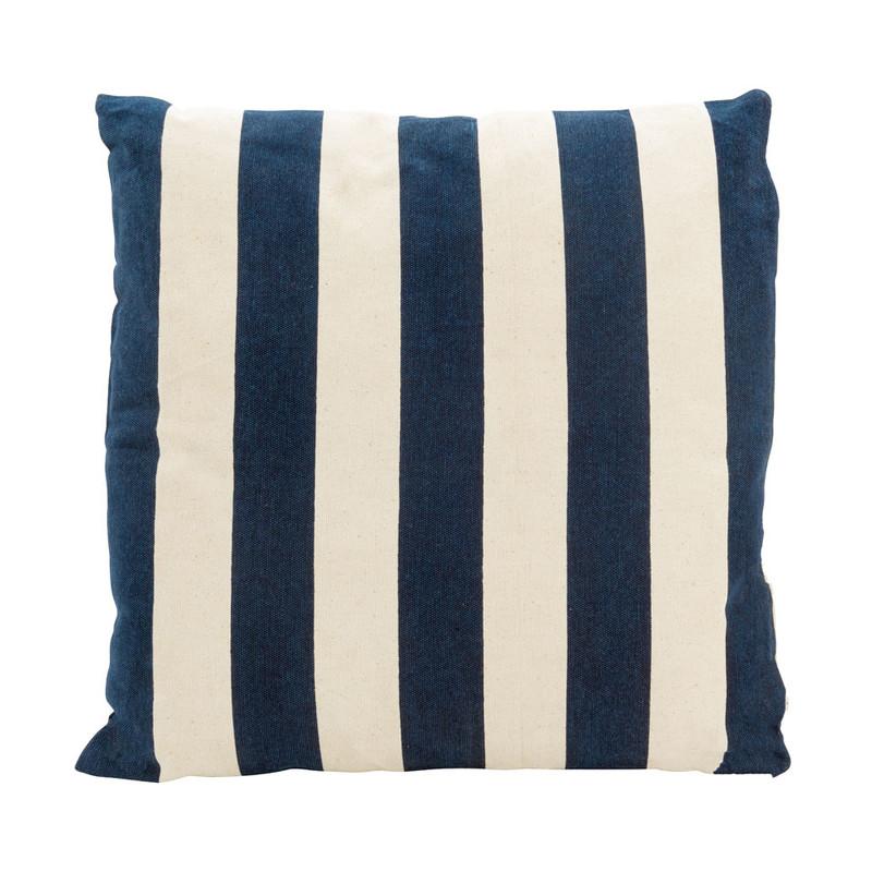 Kussen Blauw Wit.Kussen Streep Blauw Wit 45x45 Cm