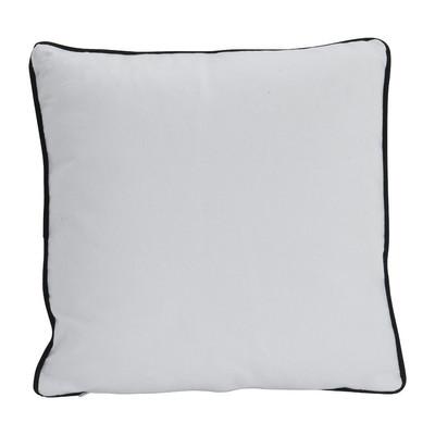 Kussen waaier - zwart/wit - 40x40 cm