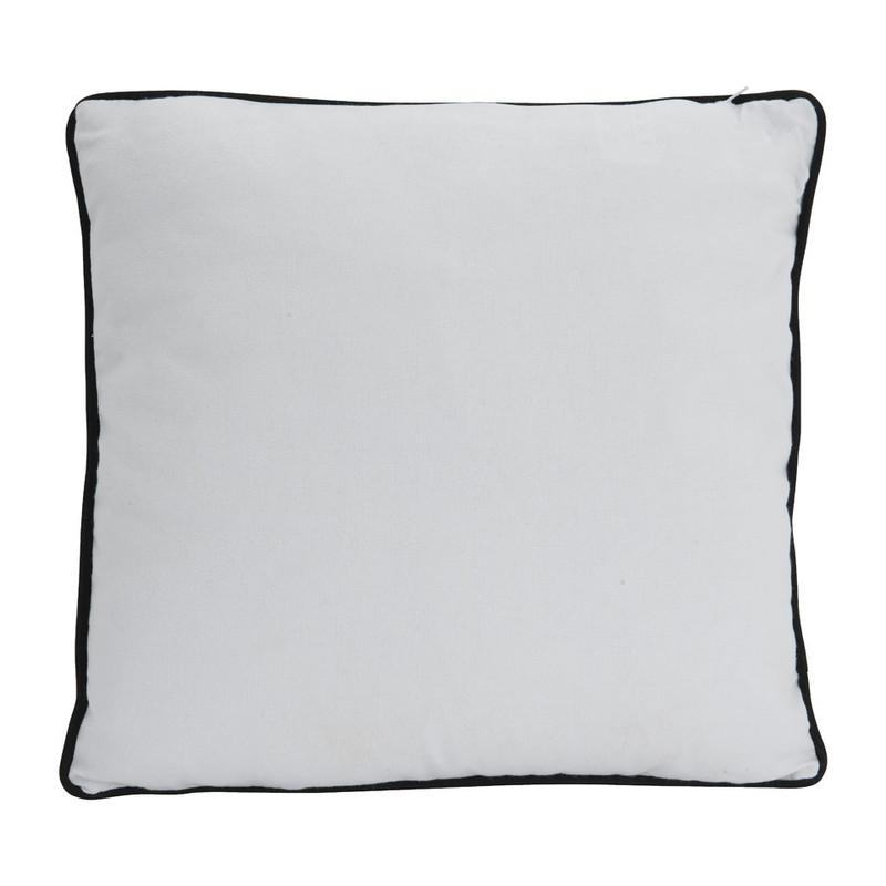 Kussen Zwart Wit.Kussen Blad Zwart Wit 40x40 Cm