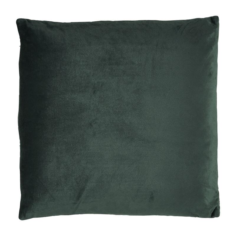 Kussen gestanst - donkergroen - 45x45 cm