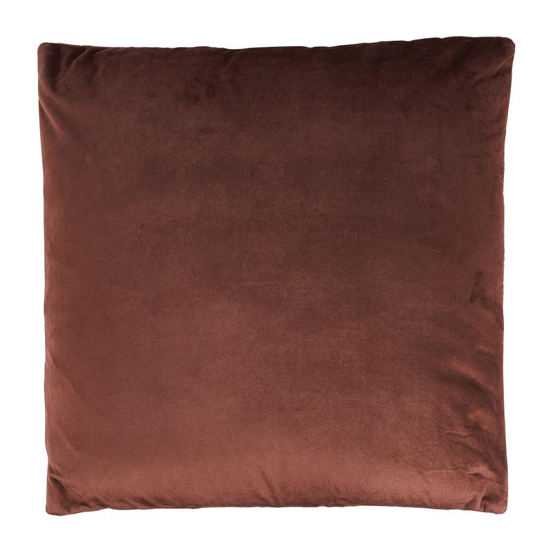Kussen gestanst - bordeauxrood - 45x45 cm