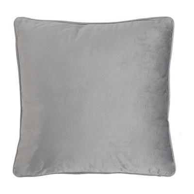 Kussen velours - grijs - 45x45 cm