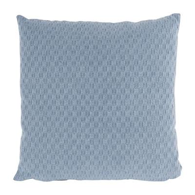 Kussen ruit geweven - blauw - 40x40 cm