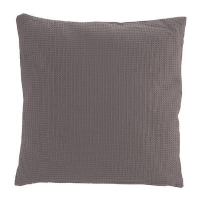 Kussen wafel - grijs - 40x40 cm