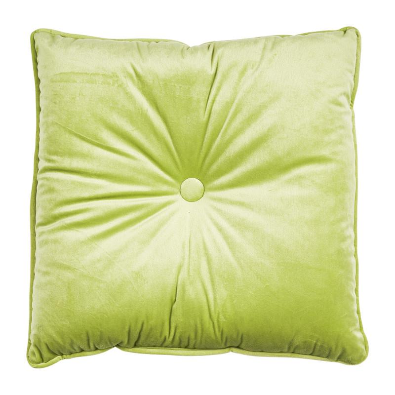 Kussen met knoop - groen - 45x45 cm