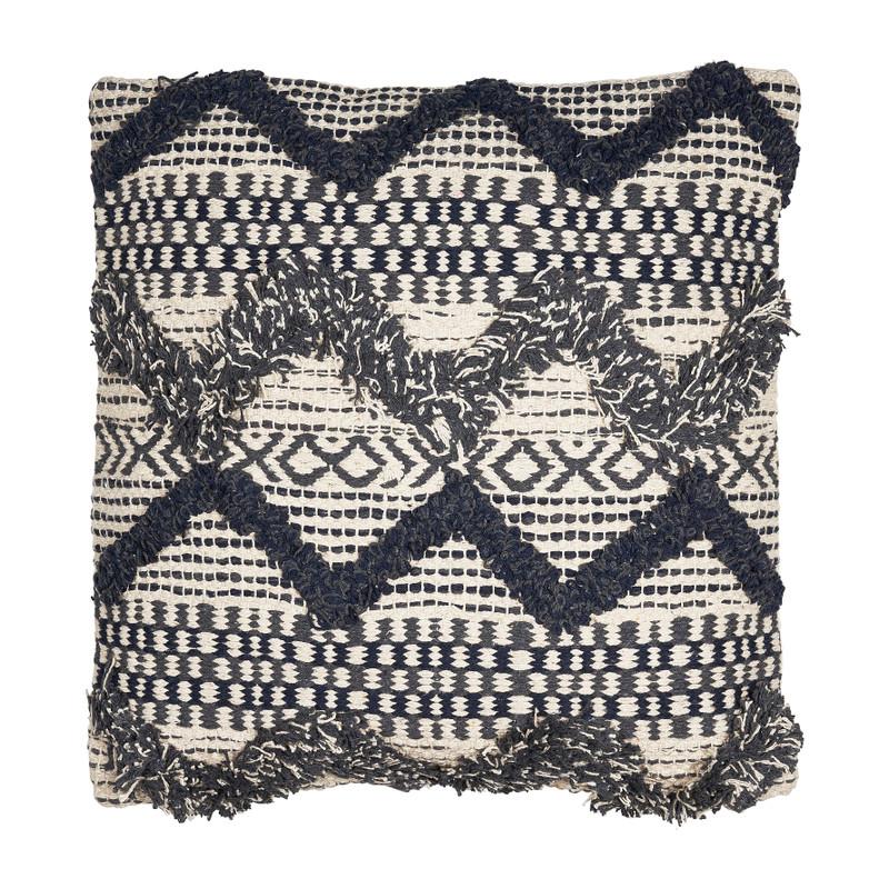 Kussen zigzag dessin - blauw- 45x45 cm
