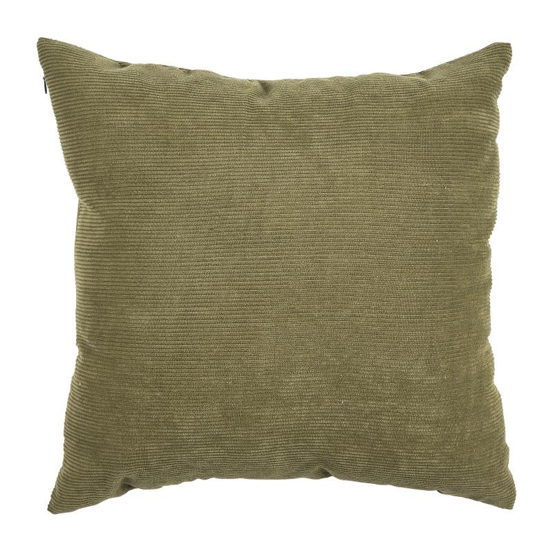 Kussen rib - groen - 45x45 cm