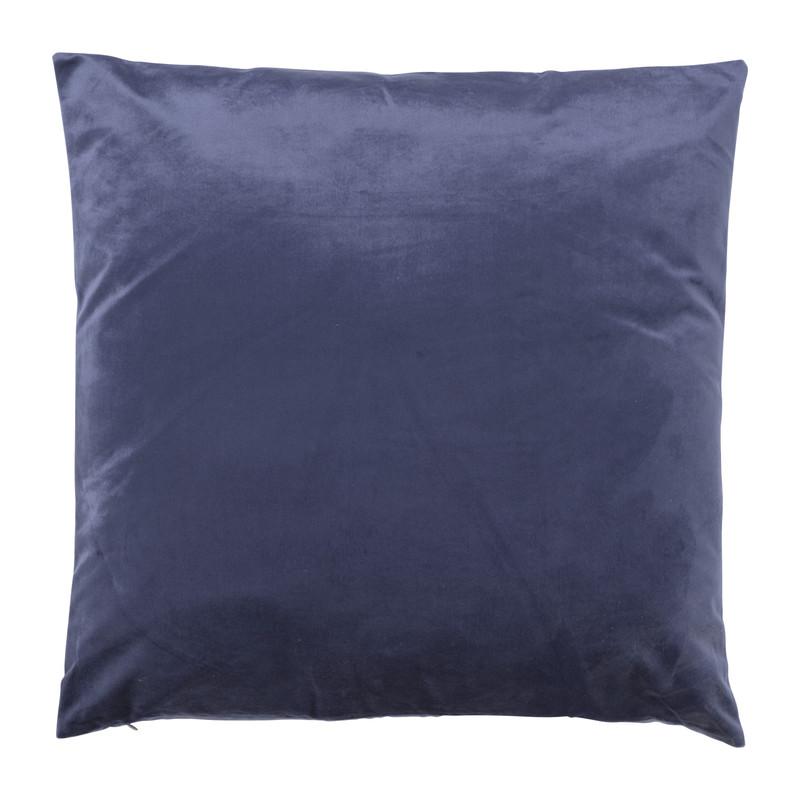 Kussen velvet - donkerblauw - 45x45 cm