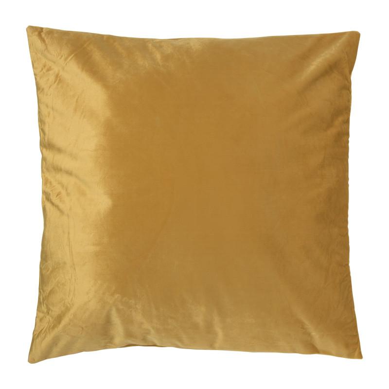 Kussen velvet - okergeel - 60x60 cm