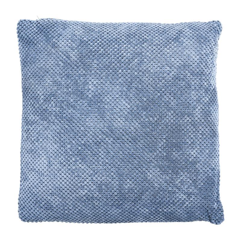 Kussen blokje - steenblauw - 45x45 cm