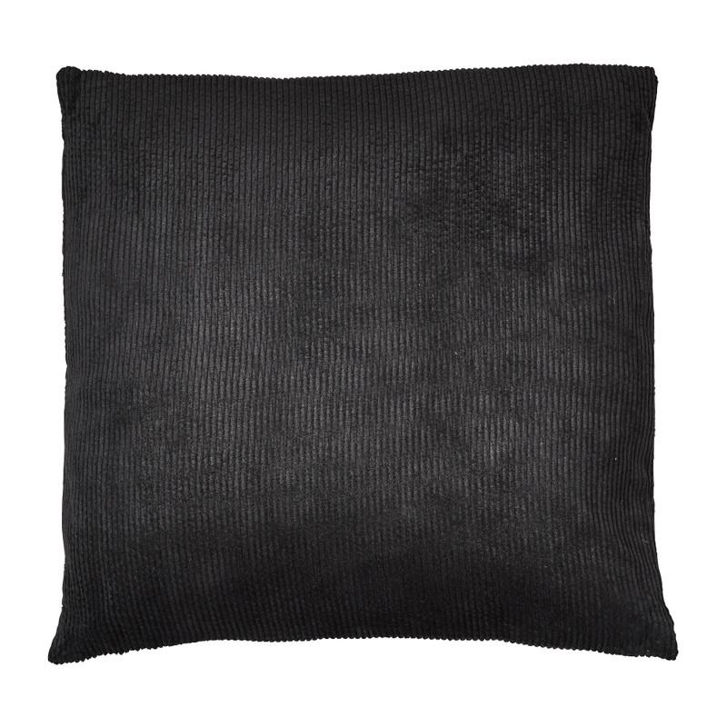 Kussen rib - zwart - 45x45 cm