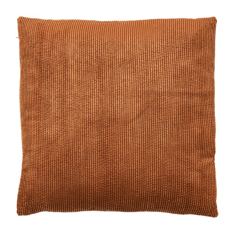 Kussen rib - bruin - 45x45 cm
