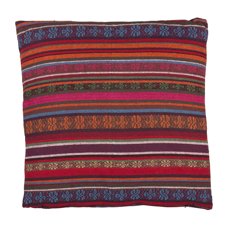 Kussen Mexican - rood/paars - 45x45 cm