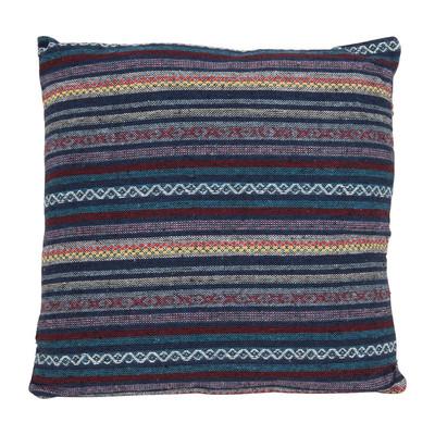 Mexicaans kussen - blauw - 45x45 cm