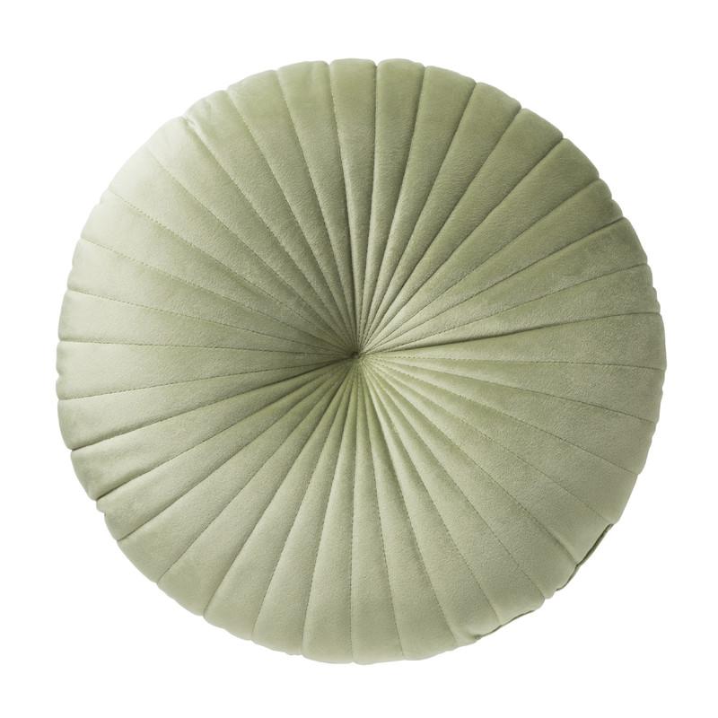 Kussen rond - groen - ⌀45 cm