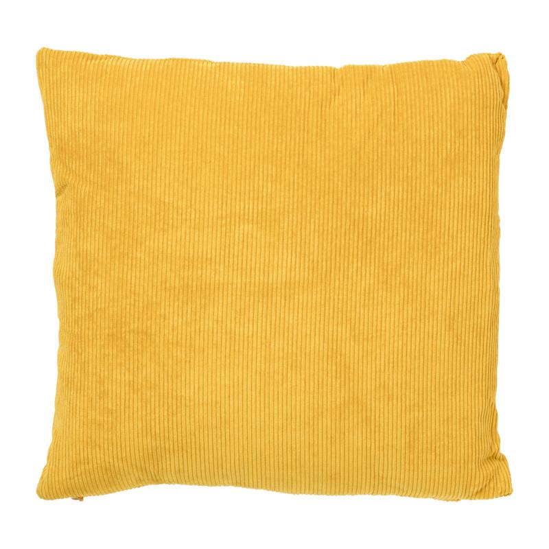 Kussen ribstof - geel - 40x40 cm
