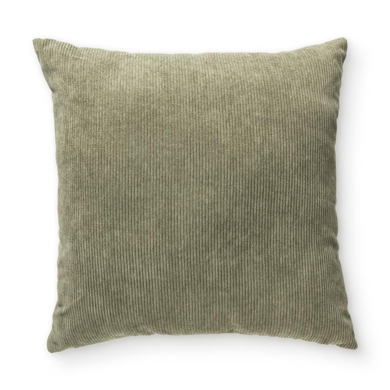 Kussen ribstof - groen - 40x40 cm