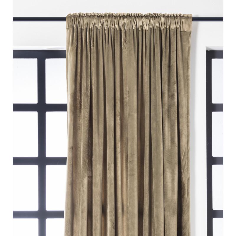 Gordijn taupe - 140x250 cm