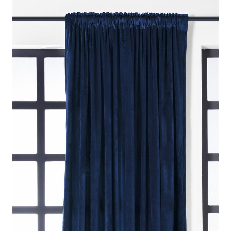 Gordijn donkerblauw - 140x250 cm