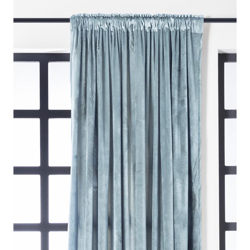 Gordijn lichtblauw - 140x250 cm