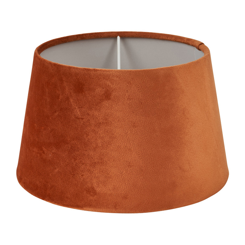 Lampenkap velvet - cognac - ø28 cm
