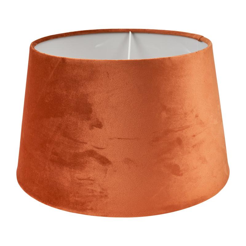 Lampenkap velvet - cognac - ø33 cm