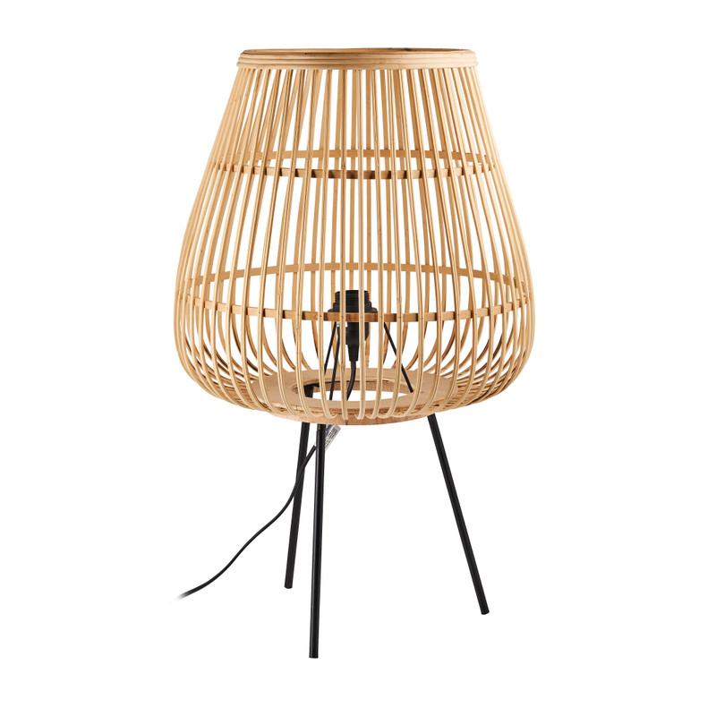 Lamp op pootjes bamboe - ø40,5x67 cm