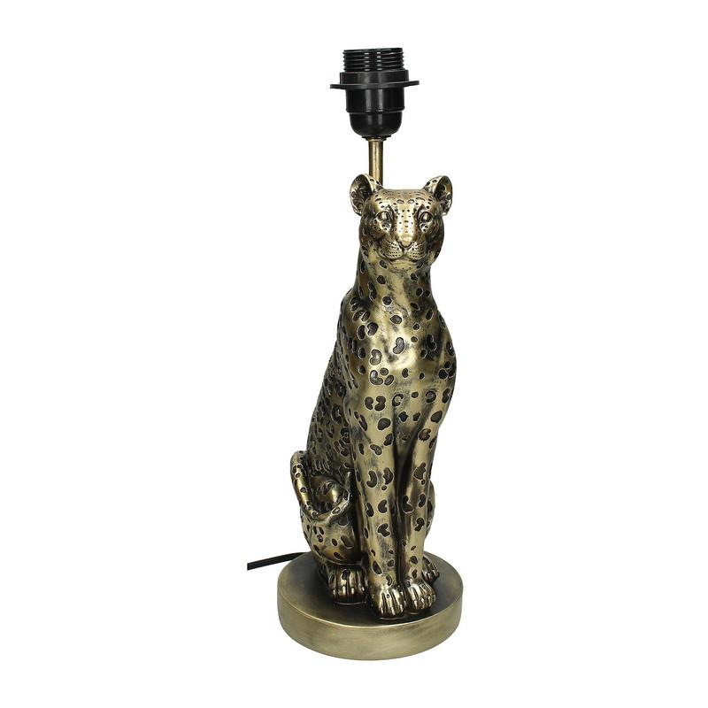 Lampenvoet luipaard - goud - 13x16x39 cm