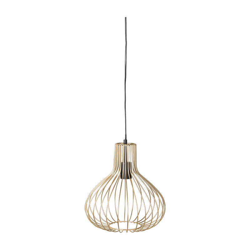 Hanglamp metaal - goud - 30x30x32 cm