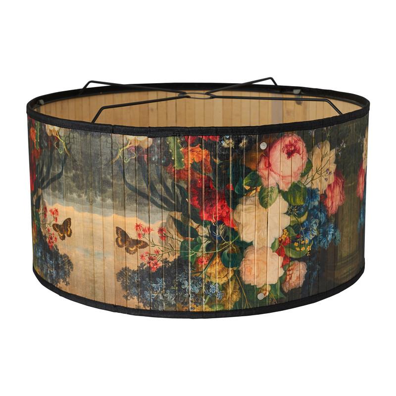 Hanglamp bamboe - bloemprint - ø50 cm
