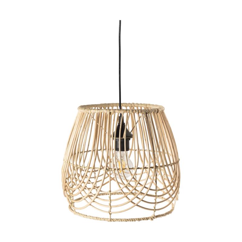 Hanglamp wilgen hout - naturel - 30x30x27 cm
