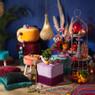 Cottonbal franjes - marrakesh - 10 lampjes - 165 cm