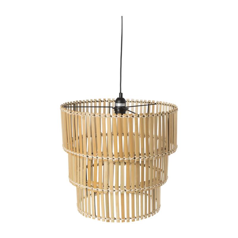 Hanglamp bamboe - 3-laags - ⌀40x38 cm