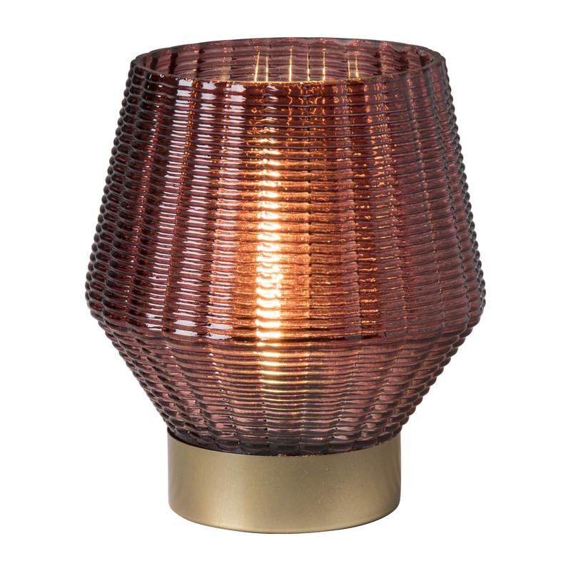 Tafellamp donker roze - 14x12.5 cm