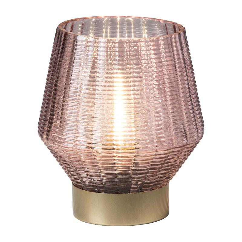 Tafellamp zacht roze - 14x12.5 cm