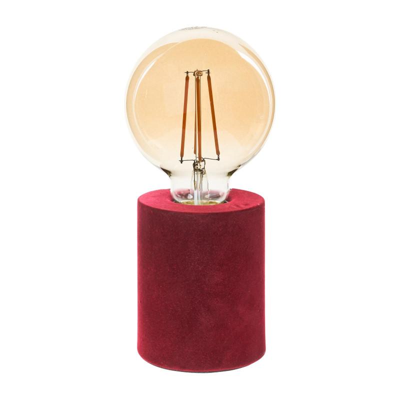 Tafellamp velvet - rood - ø8x20 cm