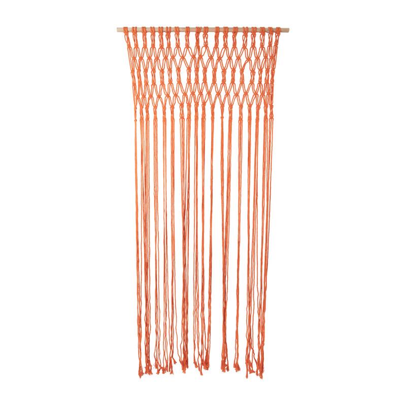 Deurgordijn macrame - oranje - 90x200 cm