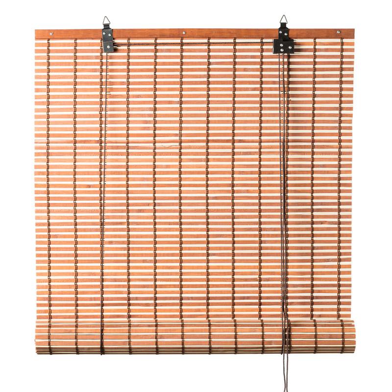 Rolgordijn bamboe - lichtbruin - 120x180 cm