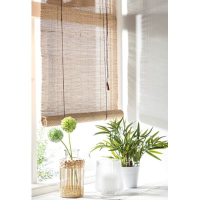 rolgordijn bamboe naturel 60x130 cm